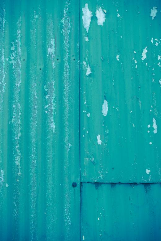 Free Stock Photo of Corrugated Cyan Metal Sheet Created by Free Texture Friday