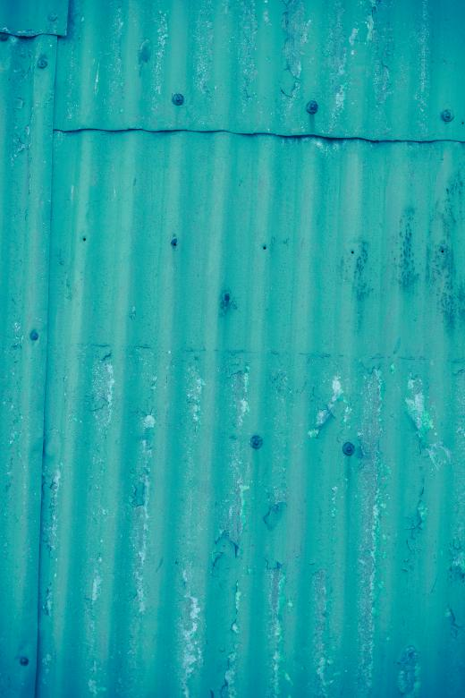 Free Stock Photo of Corrugated Cyan Metal Sheet Texture Created by Free Texture Friday