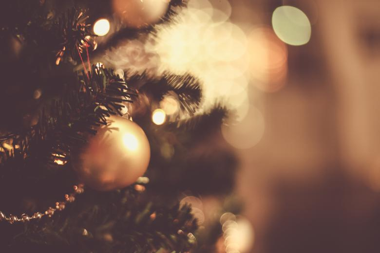 Christmas tree balls and bokeh free stock photo by bjorgvin