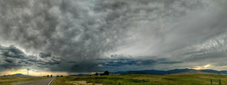 Free Stock Photo of Montana Landscape Panorama Created by agphotostock.com