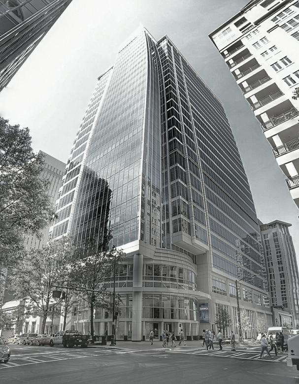 Free Stock Photo of Black and White Highrise in the City of Charlotte Created by agphotostock.com