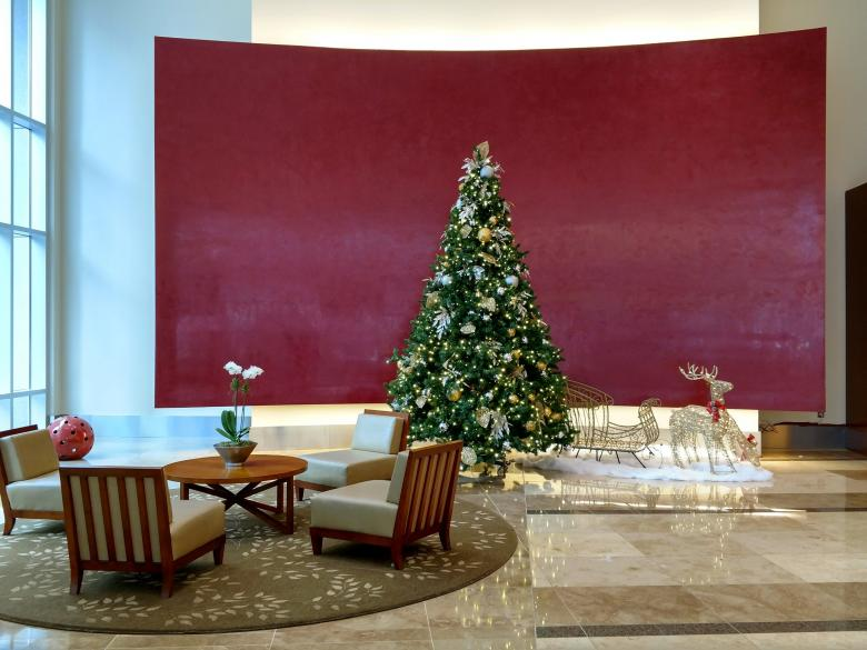 free stock photo of christmas decorations in office building lobby created by agphotostockcom