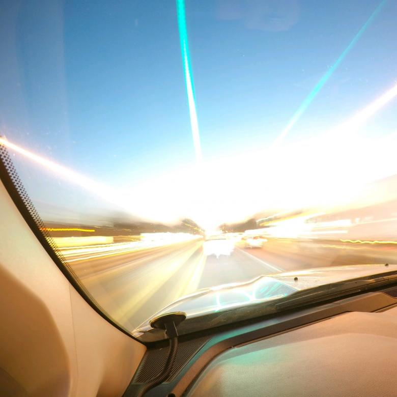 Free Stock Photo of Morning Drive - Light Effect Created by agphotostock.com