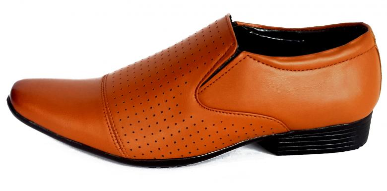 Free Stock Photo of Single Brown Leather Shoe - Side View Created by shiv Kumar
