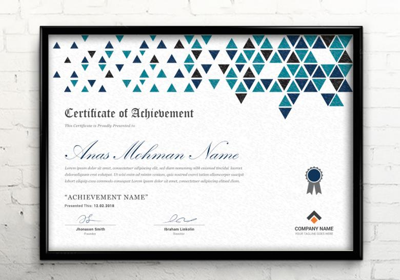Corporate Certificate Template Free Stock Photo By Anas Mannaa On