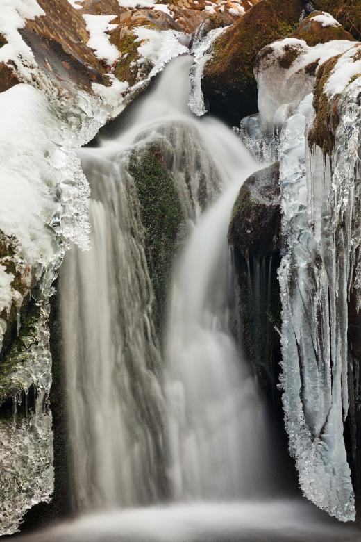 Free Stock Photo of Frozen Hollow Falls Created by Nicolas Raymond