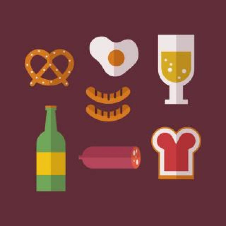 Free Stock Photo of German Food Vector Icons Created by Sara