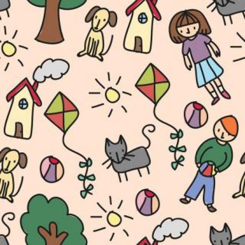 Free Stock Photo of Vector Pattern Full of Doodles Created by Sara