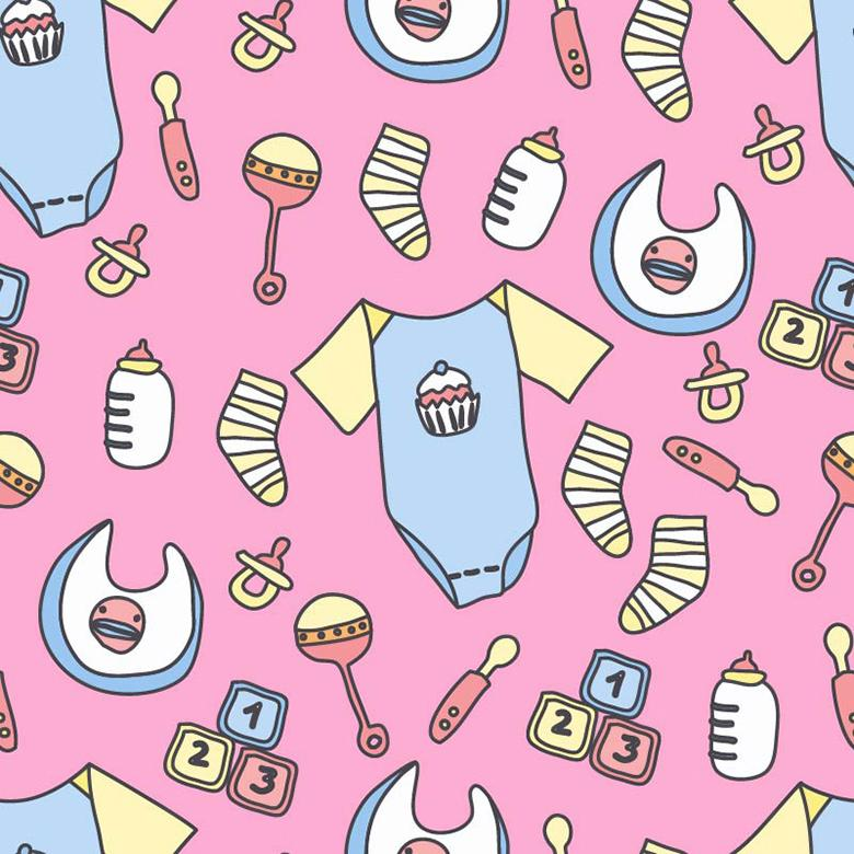 Baby Stuff Vector Pattern - Free Vector Patterns