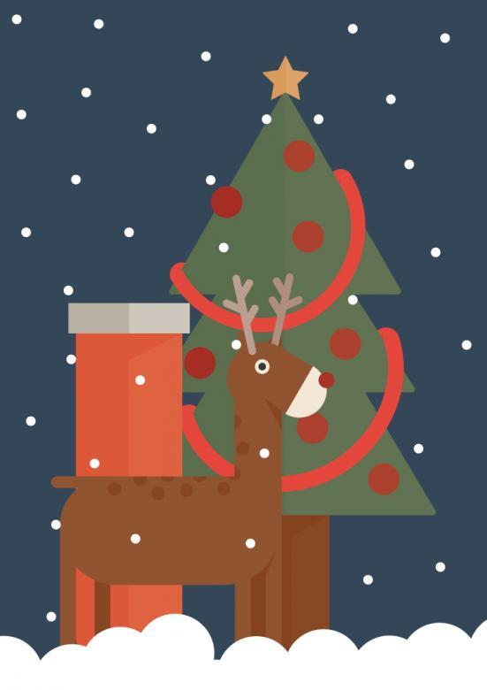 Christmas Greetings - Free Christmas Illustrations