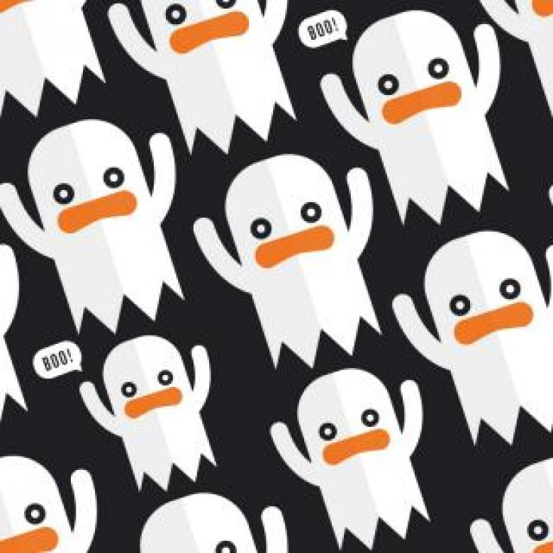 Seamless Ghosts Vector Pattern - Free Vector Patterns