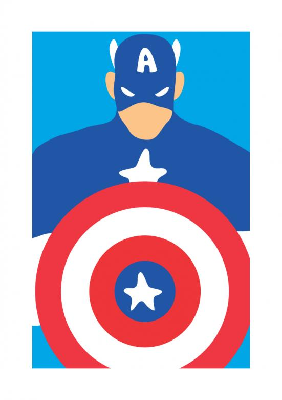 Captain America Illustration Free Stock Photo By Sara On