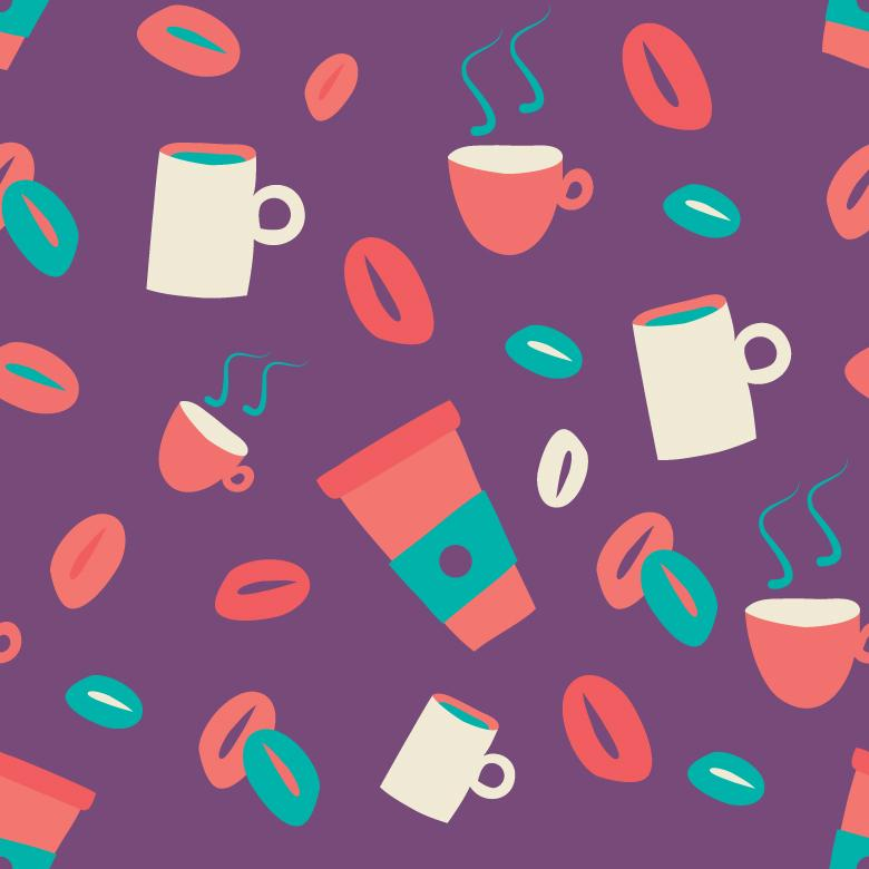 Seamless Coffee Pattern - Free Vector Patterns