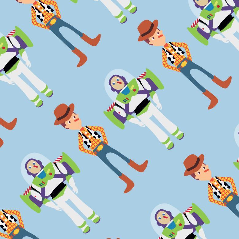 Toy Story Buddies Seamless Pattern - Free Vector Patterns