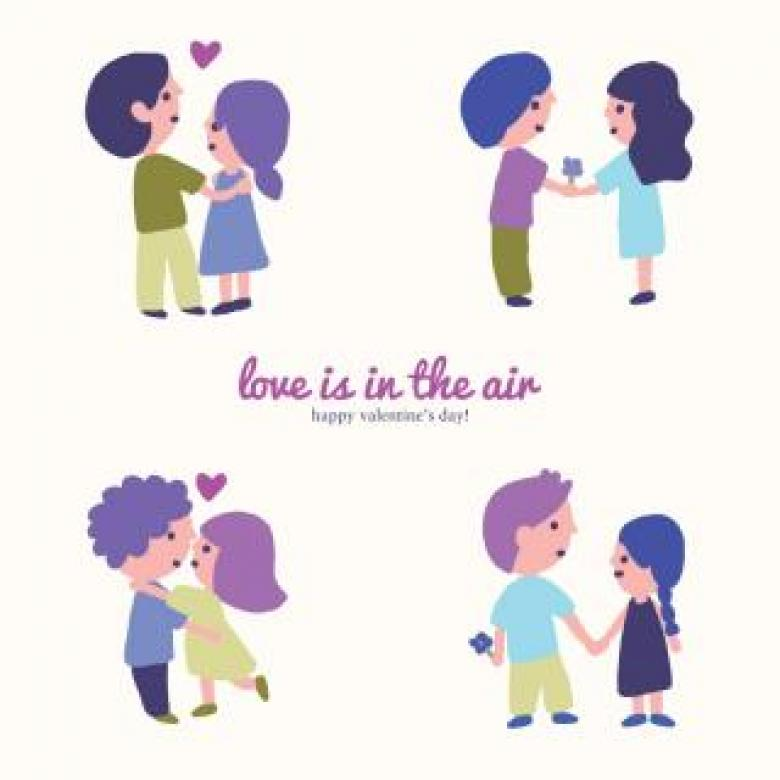 Love is in the Air Free Photo
