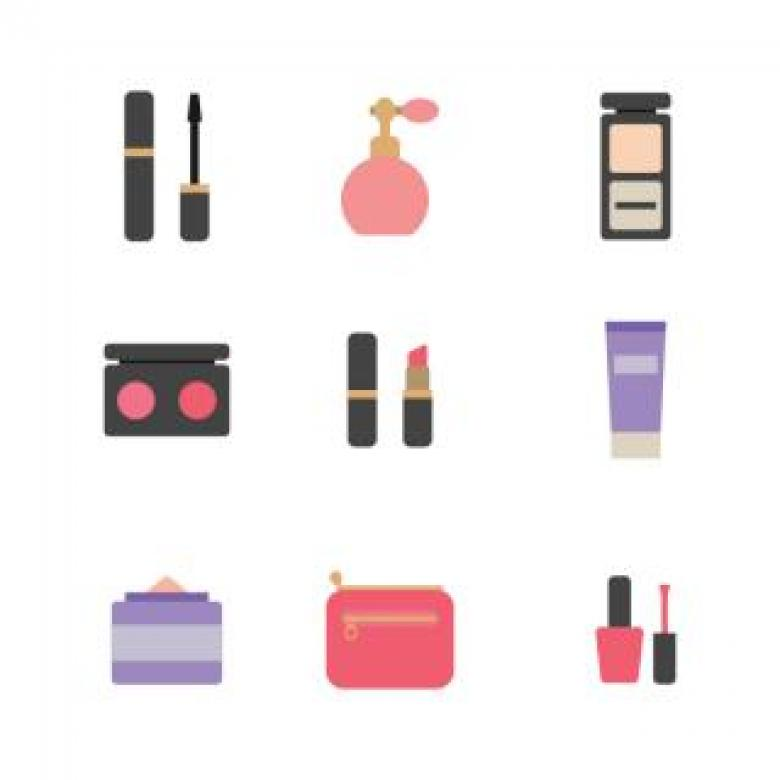 Free Stock Photo of Make-Up Icons Set Created by Sara