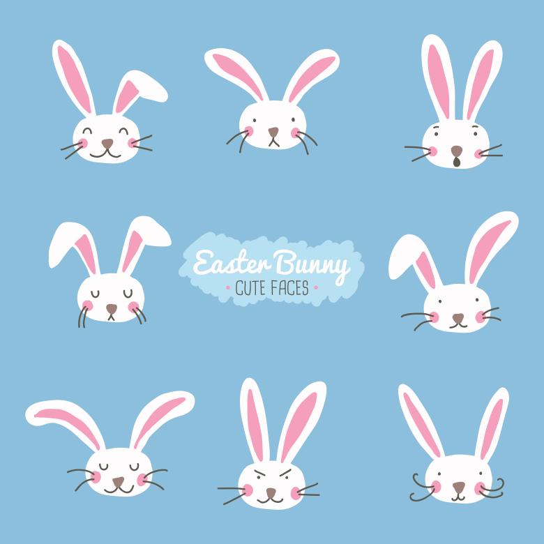 Free Stock Photo of Easter bunny cute faces Created by Sara