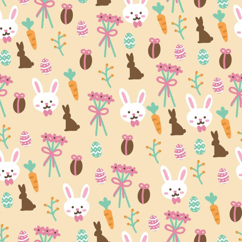 seamless easter vector pattern free stock photo by sara on