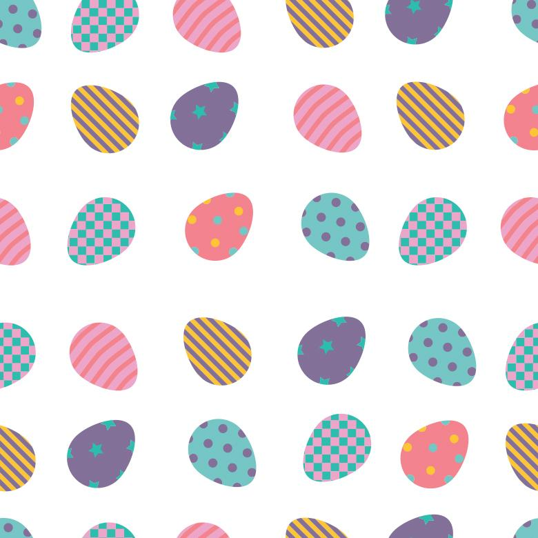 Flat Easter Eggs Pattern - Free Easter Stock Photos & Vectors