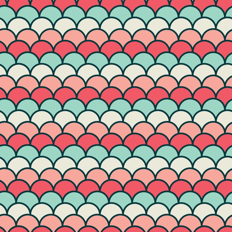 Free Stock Photo of Seamless Waved Vector Pattern Created by Sara