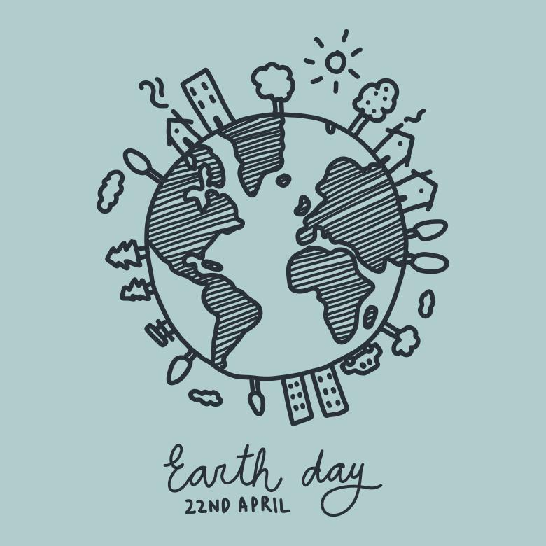 Free Stock Photo of The World Celebrating Earth day Created by Sara