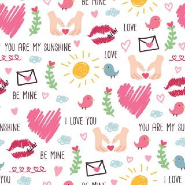 Love Seamless Background - Free Vector Patterns