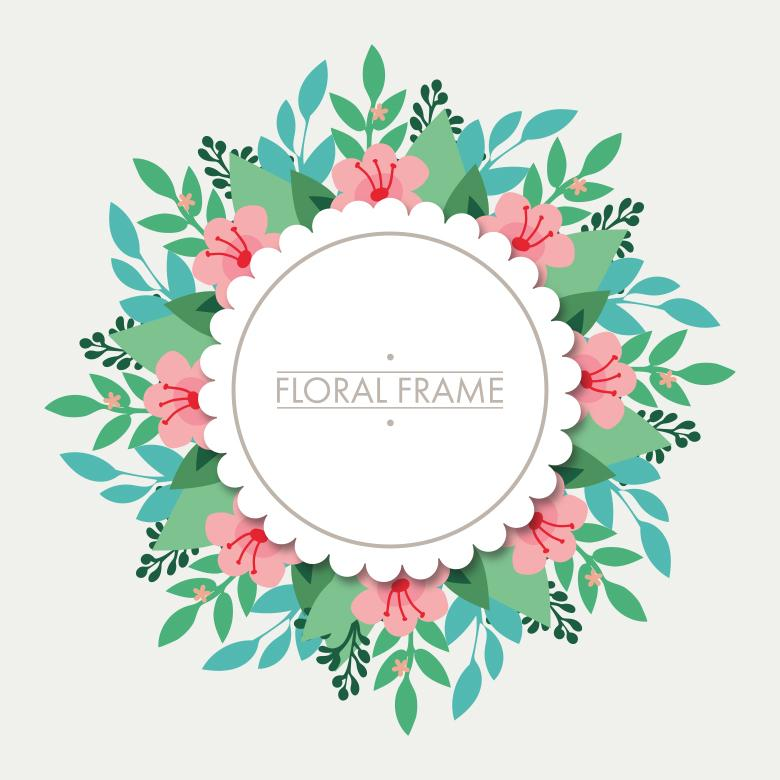 Floral Frame Illistration - Free Stock Photo by Sara on Stockvault.net