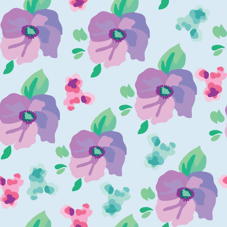 Free Stock Photo of Beautiful Realistic Flower Pattern Created by Sara