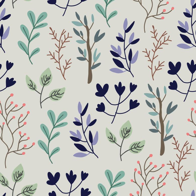 Dark Tone Plant pattern - Free Vector Patterns