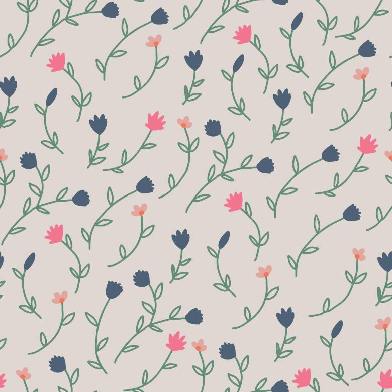 Wallpaper Vector Pattern with Tulips - Free Vector Patterns