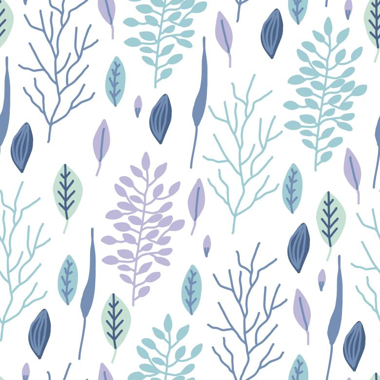 Delicate Floral Pattern - Free Vector Patterns