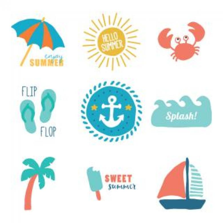 Summer Vector Logos - Free Travel Illustrations