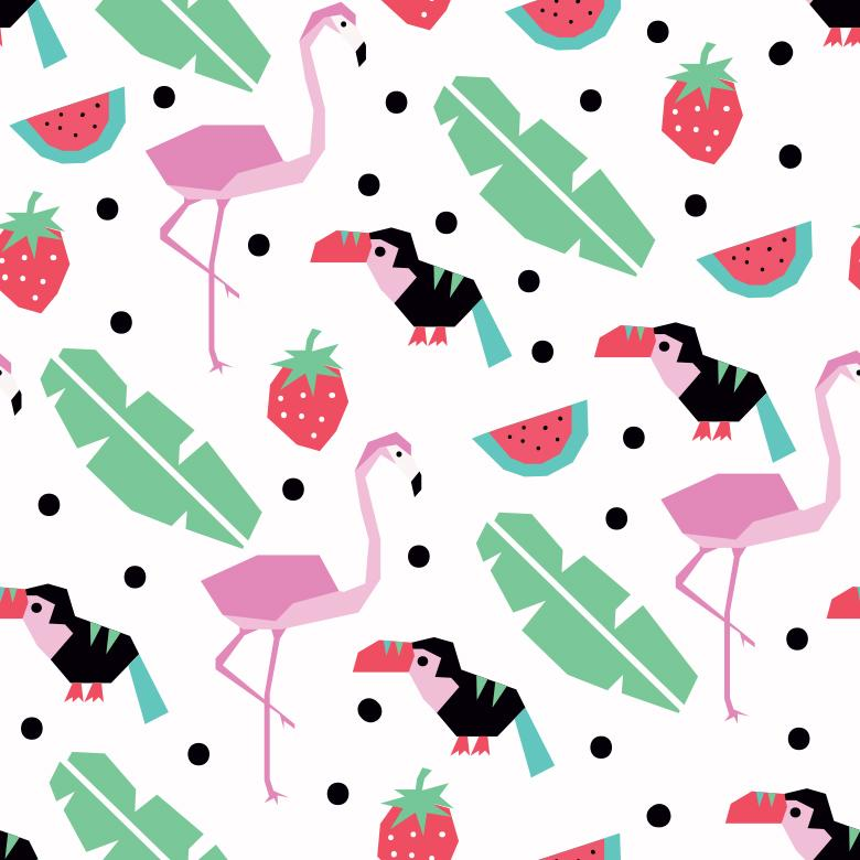 Tropical Vector Pattern - Free Vector Patterns