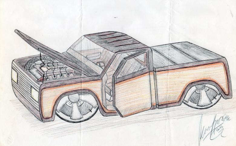 Free Stock Photo of Automobile drawing by hand Created by rudy liggett