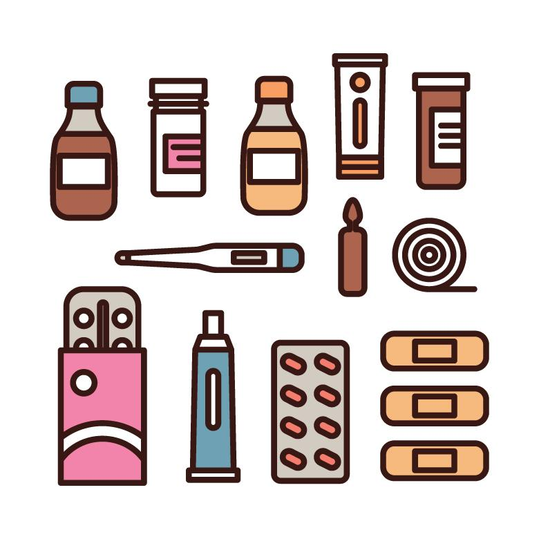 Free stock image of Colorful Outlined Medicines Icons created by Sara