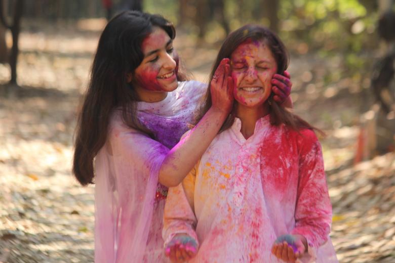 Free Stock Photo of Girls Playing With Colored Powder Created by NAVJOT SINGH SIDHU