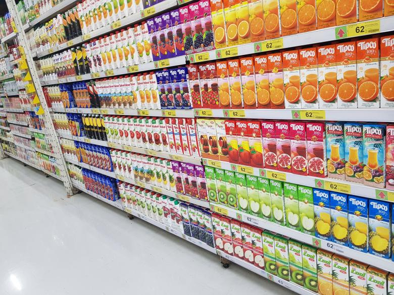 Free stock image of Grocery Store Juice Aisle created by Batu Berk