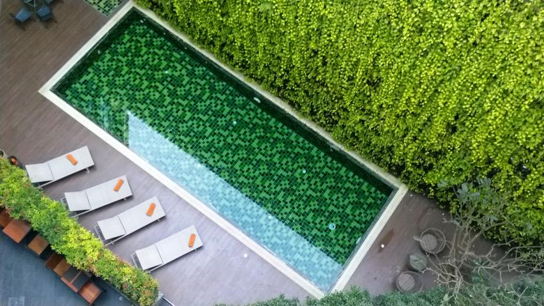 Free Stock Photo of Top view of a hotel swimming pool Created by Ivan