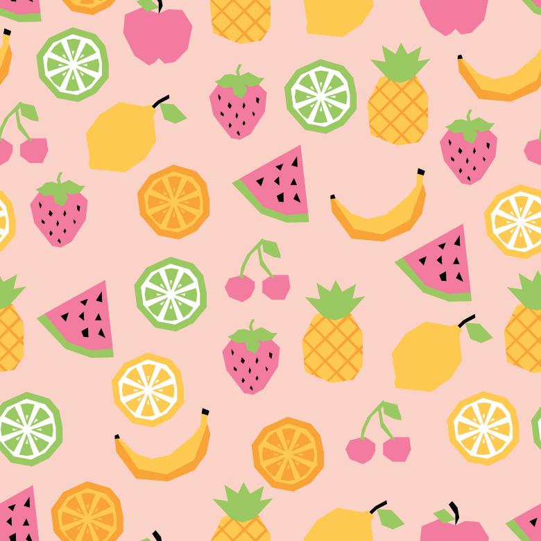 Free Stock Photo of Vector Pattern Full of Fruits Created by Sara