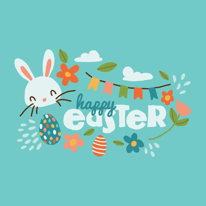 Cute Easter Background - Vector Illustration - Free Easter Stock Photos & Vectors