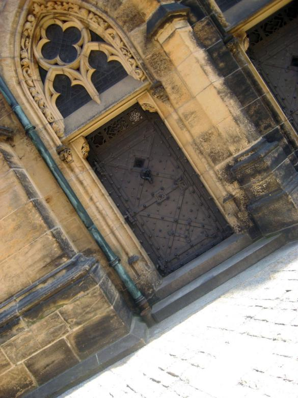 Old Gothic Door Monument in Prague Free Photo
