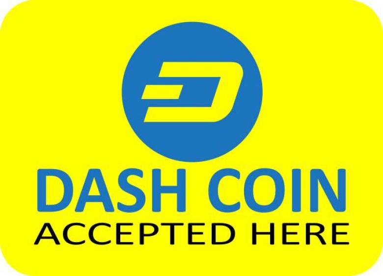 Free Stock Photo of Dashcoin Accepted Here Cryptocurrency Vector Sticker Created by Ramkumar