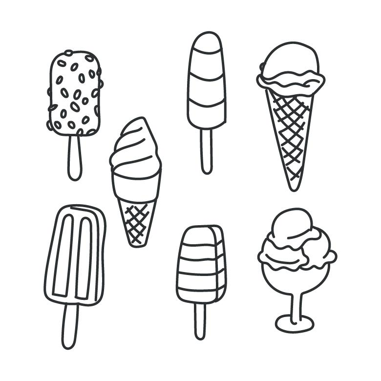 ice cream vector doodles free stock photo by sara on stockvault net