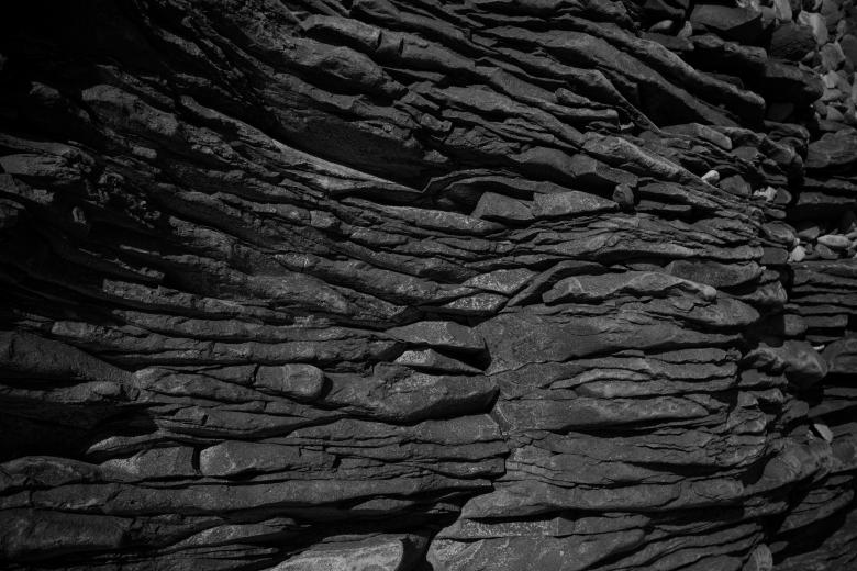 Free Stock Photo of Gray Rock Formation Texture Created by Free Texture Friday
