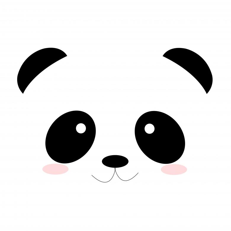 how to draw a cute panda face