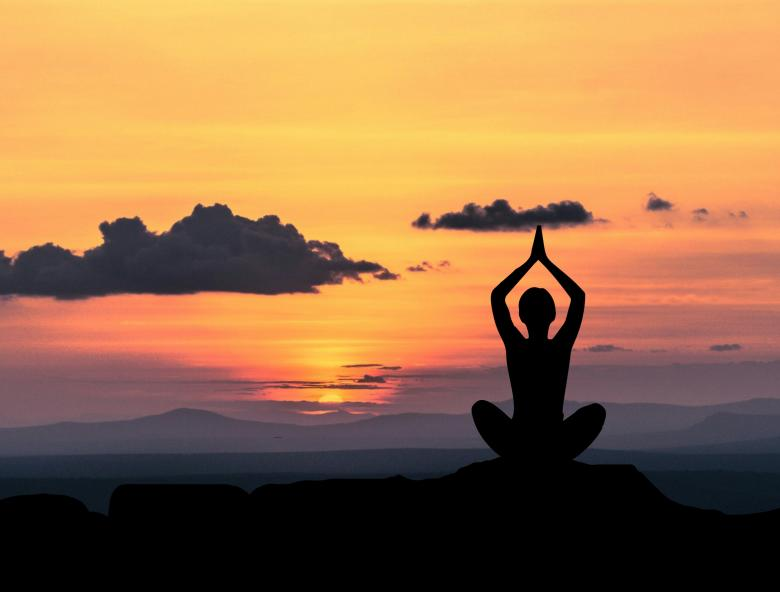 Yoga Pose at Sunset - Free Stock Photo by mohamed hassan on Stockvault.net