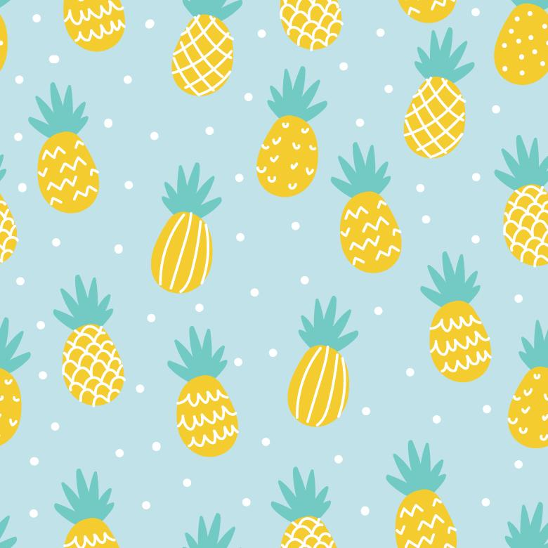 Free Stock Photo of Pineapple Vector Pattern Created by Sara