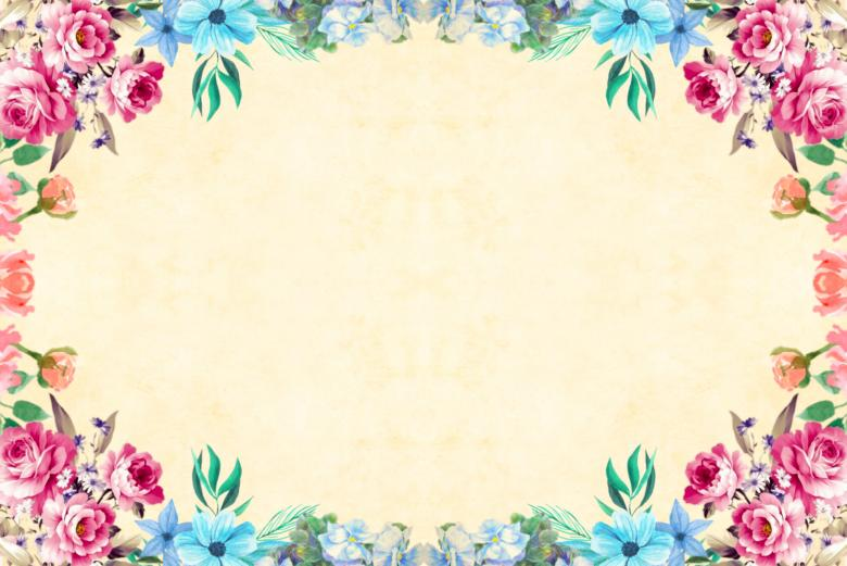 Free Stock Photo of Floral Frame Background Created by mohamed hassan
