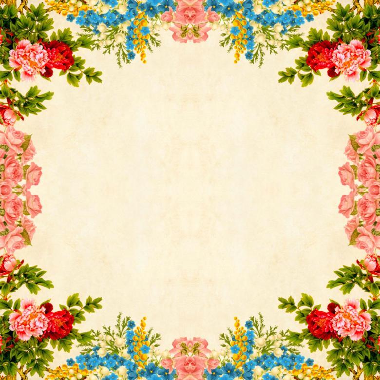 Free Stock Photo of Floral Border on Vintage Background Created by mohamed hassan