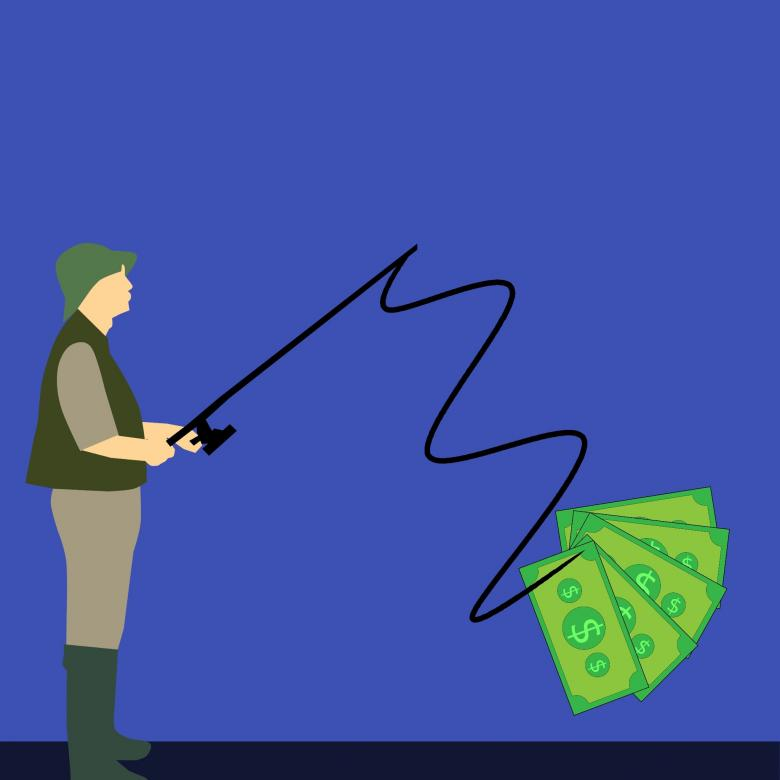 Free Stock Photo of Money Hunting Illustration Created by mohamed hassan
